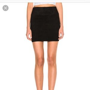 SPRWMN suede mini skirt with tags